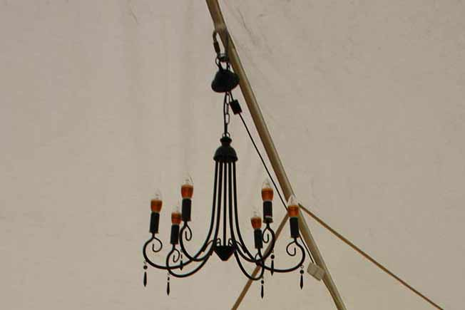 Electric 6 Candle Chandalier